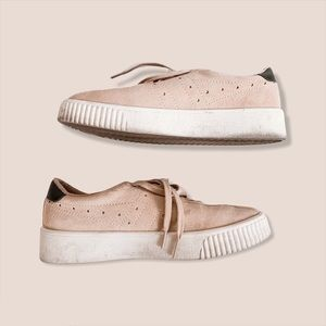 Gola Pink Suede Lace Up Sneakers Sz 10